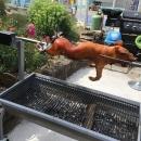 le cochon de lait à la broche en haute saison
